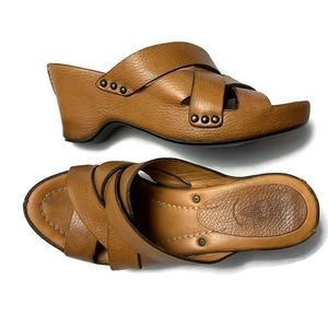 Frye Thomasville Leather Wedge Sandals